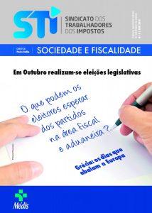 "CAPA - REVISTA DO STI - ""SOCIEDADE E FISCALIDADE N.º 5"""