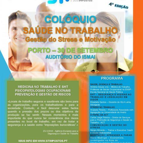 """COLÓQUIO """"SAÚDE NO TRABALHO- GESTÃO DO STRESS E MOTIVAÇÃO"""""""